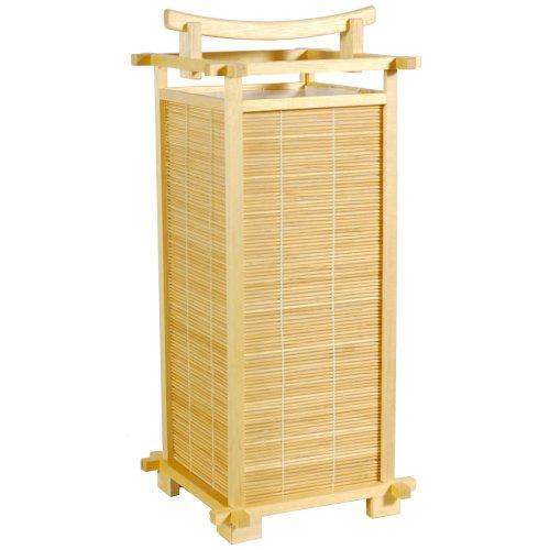 Oriental Furniture Inexpensive Under $50 Dollars Table Lamps, 18-Inch Nara Matchstick Japanese Electric Lantern, Natural