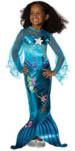 Magical Mermaid Kids Costume (fits 5-7 years with Bracelet for Mom)