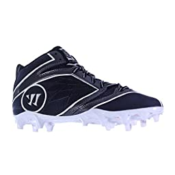 BURN6MBB BY WARRIOR NEW ADULT MENS LACROSSE BLACK WHITE US MENS 10D