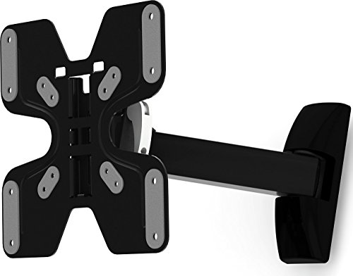 Masterplug Ross Neo LNSA200-RO Single Arm Adjustable Swivel and Tilt Wall Mount Bracket for 23-37 inch LCD, LED, Monitor and TV Black