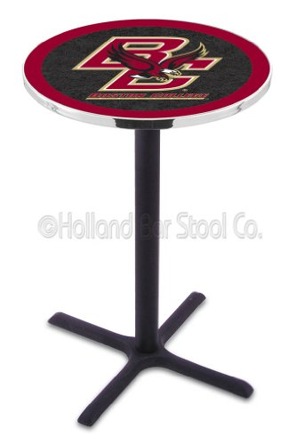 L216-42 Chrome Boston Bruins Pub Table by Holland Bar Stool Co.