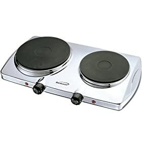 Brentwood TS-372 Electric Twin Hot Plate 