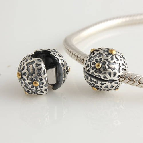 925 sterling silver lazy clip stopper bead charm for