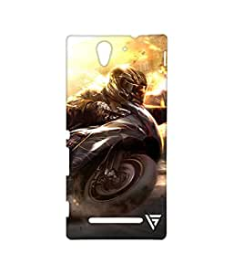 Vogueshell Sports Car Printed Symmetry PRO Series Hard Back Case for Sony Xperia C3