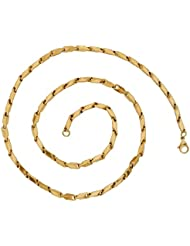 The Jewelbox Slim Small 3D Links Gold Plated Stainless Steel Chain Necklace
