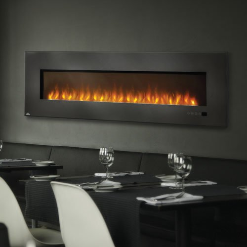 Napoleon 72 in. Electric Fireplace Insert with Glass napoleon travelq 285 портативный газовый