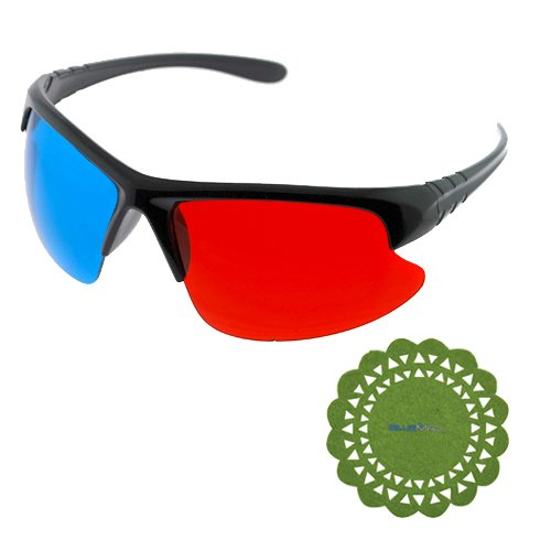 GTMax Frameless buttom 3D Red/Cyan Glasses for