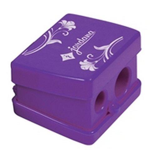 (3 Pack) JORDANA Jumbo Slim Duo Sharpener - Purple w/ Cover