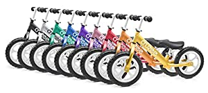 Cruzee OvO UltraLite Balance Bike 12 Inch- 4.2lbs -Lightest No-Pedal Kid's Bike For Boys & Girls 18 Mos to 5 Years Old Toddlers & Children. Perfect First Bike - 37% Lighter Than Strider Type Training Prebikes - Beach & Baby Bike Approved Ride-On Toy