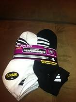 Women ADIDAS PERFORMANCE Low Cut Socks 6pr Shoe sz 5-10 cushioned anti microbial