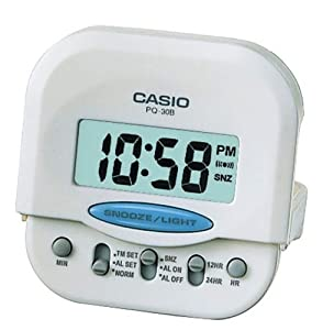 Casio - PQ-30B-7EF - Réveil - Quartz Digitale - Alarme répétitive - Eclairage LED