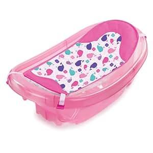 Summer Infant Sparkle N' Splash Newborn To Toddler Bath Tub, Pink (Discontinued by Manufacturer)