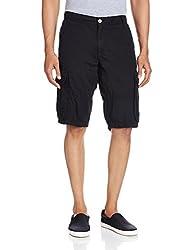 Celio Men's Cotton Shorts (8904231506558_DOBATTLENOIR_91_Noir)