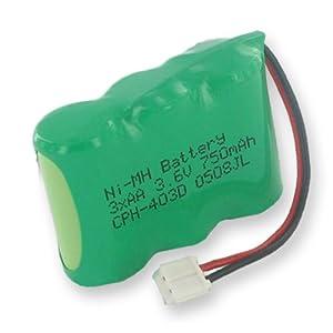 Radio Shack 43-5513 Cordless Phone Battery 1X3-2/3AA/D - 3.6 Volt, Ni-MH 750mAh - Replacement Battery
