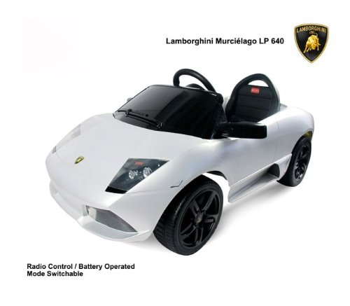 LAMBORGHINI NEW 2013 UNDER LICENCE Ride On Car Electric Power Wheel Kids W/ MP3 Connection Remote Control RC Upgraded With 6V 7Ah Battery