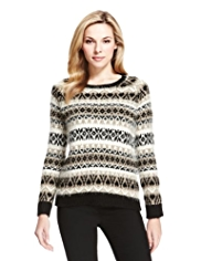 M&S Collection Fair Isle Jumper with Wool