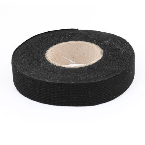 0.13mm x 18mm x 40M Nylon Adhesive Insulation Electric Tape Black for Auto Car