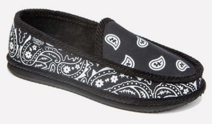 Troooper America KS-002 Bandanna Paisley Slip-On House Shoe Slippers