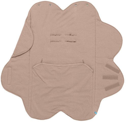 Wallaboo Baby Blanket Fleur, Taupe, 0-12 Months front-1009458
