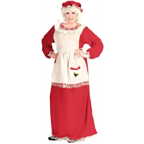 Mrs. Claus Costume - Plus Size 1X/2X - Dress Size 16-20