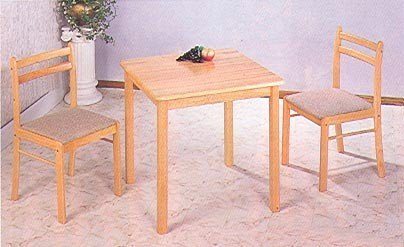 black friday 3pc natural finish wood dining table 2 chairs dinette