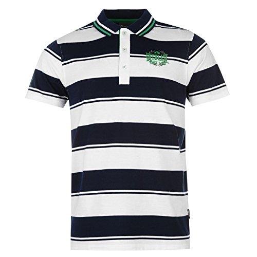 Everlast Yarn Dye Bold Stripe Polo da uomo T-Shirt Polo maglietta a manica corta tempo libero Tee blu/bianco S
