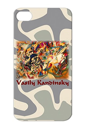Vasily Kandinsky Composition No 7 Scratch-Free Brown For Iphone 4/4S Radical Painting Drawing Surreal Weird Cool Expressionist Jazz Expressionism Abstract Anarchy Art Design Protective Case