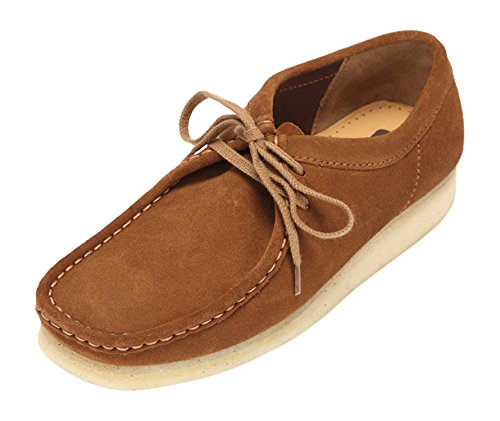 clarks-originals-wallabee-herren-derby-schnurhalbschuhe-braun-cola-43-eu-9-herren-uk