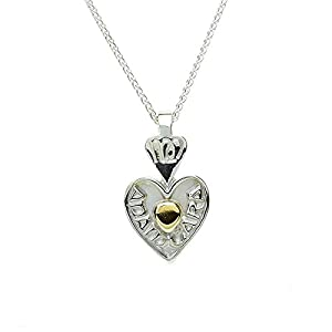 "Amazon.com: Silver & 18k Bead ""Mo Anam Cara""- My Soul Mate - Irish"