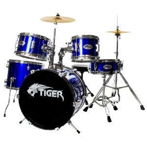 Tiger 5 Piece Junior Drum Kit - Blue