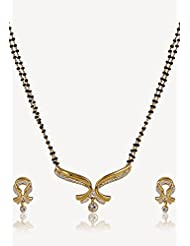 Estelle Gold Plated Necklace Set With Crystals For Women - B00NAX49KQ
