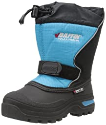 Baffin Mustang Snow Boot (Little Kid),Black/Electric Blue,2 M US Little Kid