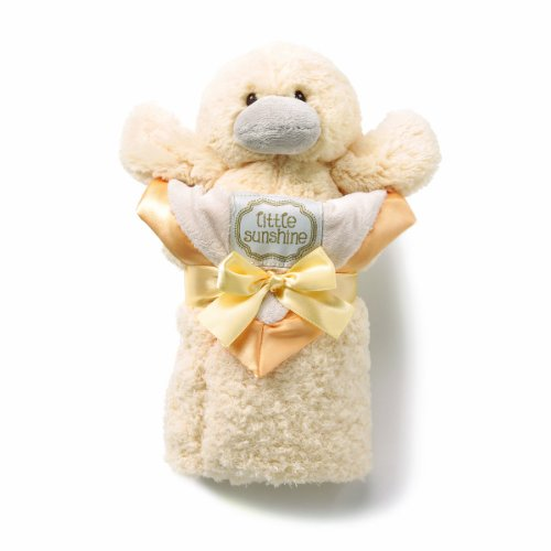 kathy ireland Plush and Blanket Set, Yellow Duck