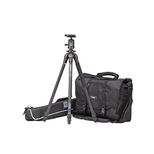 Photographer&#8217;s Pro Bundle with Tenba 15-inch Black Messenger LE Bag and Benro Tripod Kit