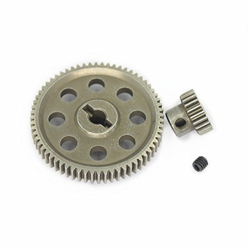 Hobbypark 11184 Steel Diff Differential Main Metal Spur Gear 64T &11119 Motor Gear 17T RC Replacement Parts for Redcat HSP 1/10 Monster Truck (Hsp Truck compare prices)