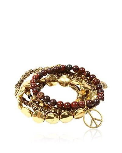 Amrita Singh Set de pulseras Yasammez Antique Gold