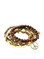 Amrita Singh Set de pulseras Yasammez Antique Gold