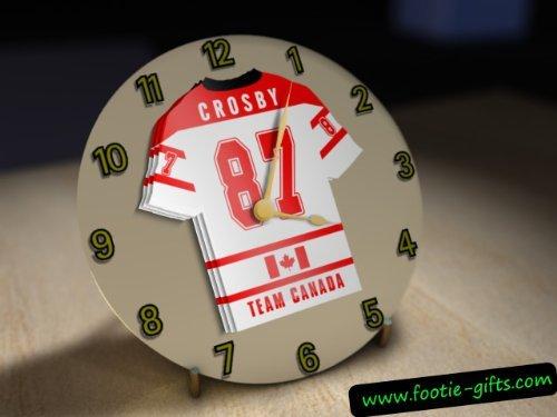 Team Canada Ice Hockey - Personalised Ivory Acrylic Clock