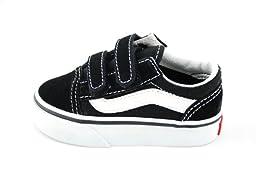 Vans Boys\' Old Skool V - Black - 9 Toddler
