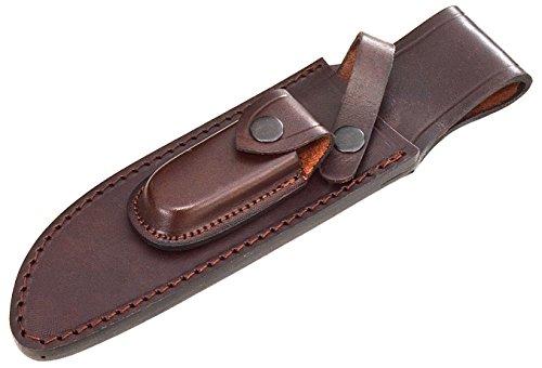 CFK Cutlery Company USA Custom QUALITY Brown Leather Handmade 6 3/4