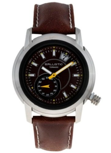 Ballistic Tornado Brown Dial Brown Leather Strap Watch