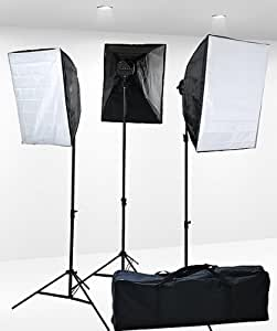 Fancierstudio 3000 Watt Digital Video Continuous Softbox Lighting Kit 9026S3 Fancierstudio