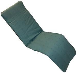 x2 Garden Patio Sun Lounger Recliner Cushion Green Diamond (Replacement Cushion Fits Most Relaxers)