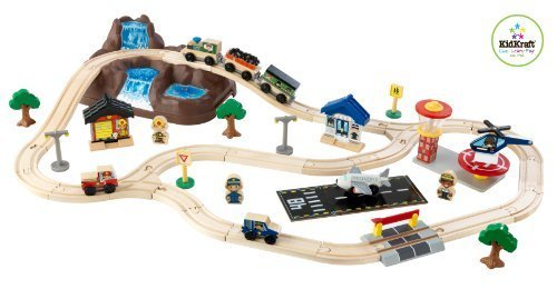 414J5a9LcrL Cheap Price KidKraft Bucket Top Mountain Train Set