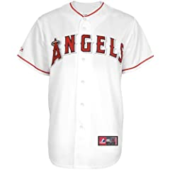 Mike Trout #27 Los Angeles Angels of Anaheim MLB Youth Home Jersey White by Majestic