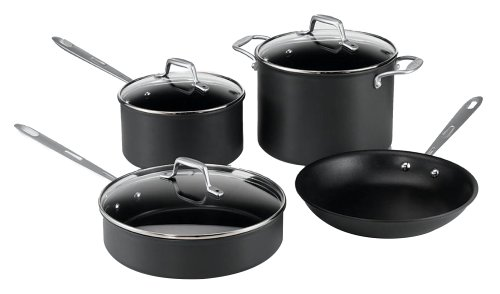 Buy Emerilware Hard Anodized non stick 7 piece set with glass lids