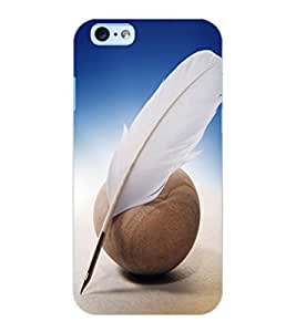 ColourCraft Feather Design Back Case Cover for APPLE IPHONE 6S