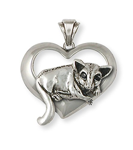Sugar Glider Pendant Jewelry Sterling Silver Handmade SG14-TP