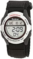 Armitron Men's 408095SIL Chronograph Black Strap Digital Sport Watch by Armitron