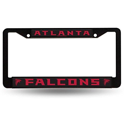 Atlanta falcons black metal license plate frame vehicles for Atlanta department of motor vehicles